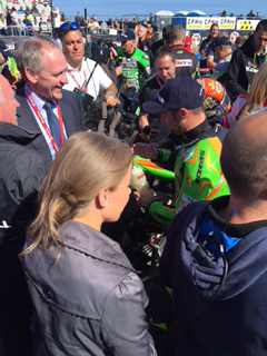 Seeley after his Betmclean Supersport race win with Paul McLean 2