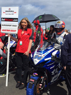 Seeley before the Betmclean Supersport race