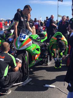 Seeley before the Supersport race